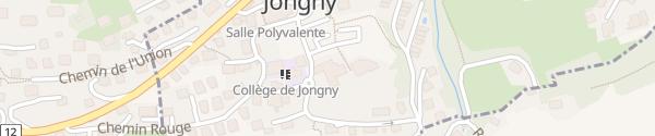 Karte Hôtel du Léman Jongny