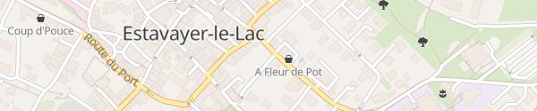 Karte Parking de la Chaussée Estavayer-le-Lac