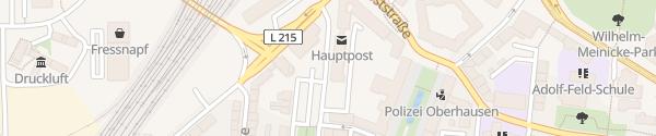 Karte Hauptpost Oberhausen
