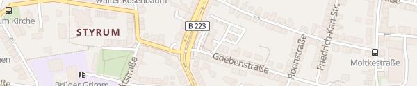 Karte Oberhausener Straße Mülheim an der Ruhr