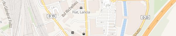 Karte Einkaufszentrum Leclerc Belfort