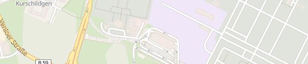 Karte P+R Parkhaus Bocklemünd Köln
