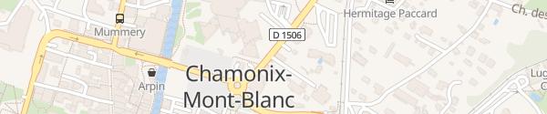 Karte Hôtel Hameau Albert 1er Chamonix-Mont-Blanc