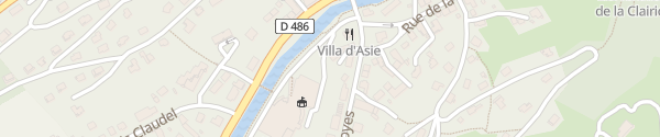 Karte Halle des Congres La Bresse