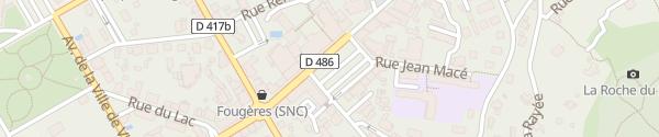 Karte Place du Tilleul Gérardmer