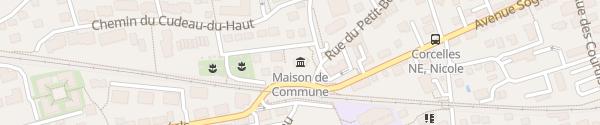 Karte Gemeindehaus Corcelles-Cormondrèche
