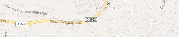 Karte Avenue du Docteur Belletrud Peymeinade