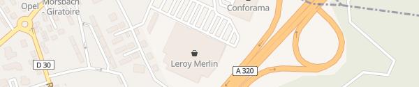 Karte Leroy-Merlin Baumarkt Forbach