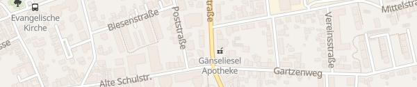 Karte Krischerstraße Monheim am Rhein
