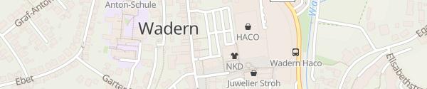 Karte Öttingen-Sötern-Platz Wadern