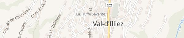 Karte Place du Village Val d'Illiez