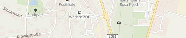 Karte Busbahnhof Wadern