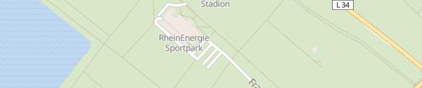 Karte Geißbockheim Köln