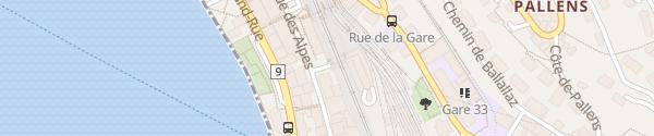 Karte Parkhaus Gare de Montreux - MoB Montreux