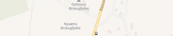 Karte Tesla Supercharger Fjellstova Ørskog