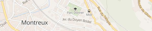 Karte Parking du Donner Montreux
