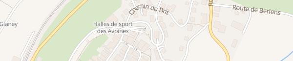 Karte Route du Poyet Romont
