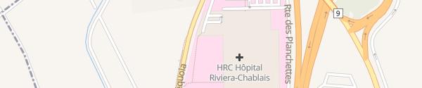 Karte Hôpital Riviera-Chablais Rennaz