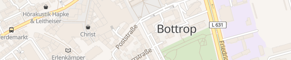 Karte Hauptpostamt Bottrop