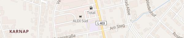 Karte ALDI Süd Hilden