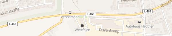 Karte Westfalen-Tankstelle Dorsten