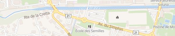 Karte Parking Place D'armes Monthey
