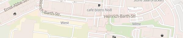 Karte Saarterrassen Saarbrücken