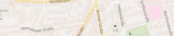 Karte Brühler Straße Köln