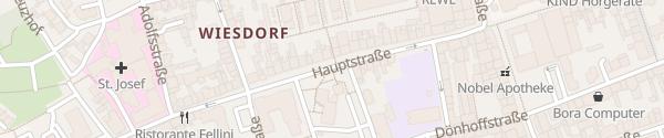 Karte Hauptstraße Leverkusen