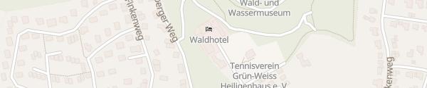 Karte E-Bike Ladesäule am Waldhotel Heiligenhaus