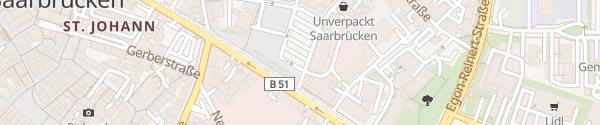 Karte Landwehrplatz Saarbrücken