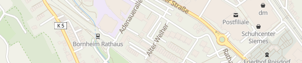 Karte Rathaus Bornheim