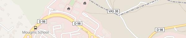 Karte SAP Labs France Mougins