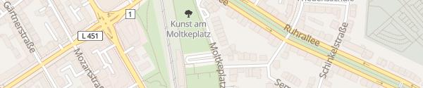Karte Moltkeplatz Essen