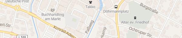 Karte Volksbank Paßweg Gronau