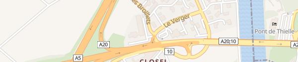 Karte GoFast ibis Neuchatel-Thielle