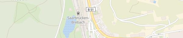 Karte Bahnhof Saarbrücken