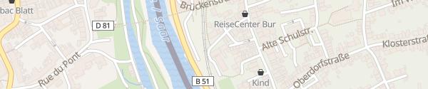 Karte Rathaus Kleinblittersdorf