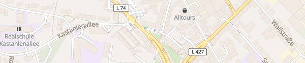 Karte Parkplatz Kastanienallee Velbert