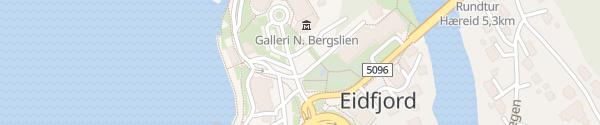 Karte Zentrum Eidfjord