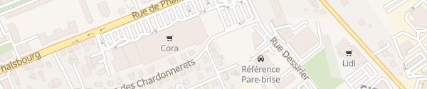 Karte Cora Einkaufszentrum Sarrebourg