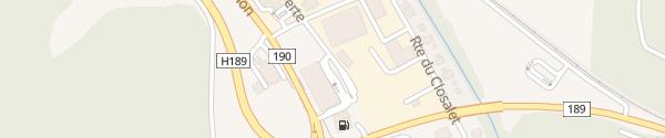 Karte GOFAST McDonald's La-Tour-de-Trême