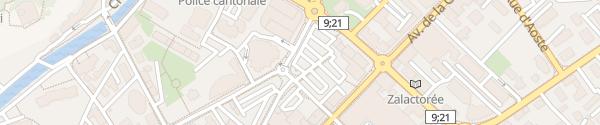 Karte Place de Rome Martigny