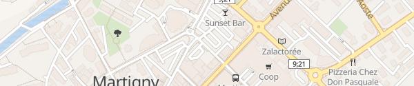 Karte Rue de la Poste Martigny