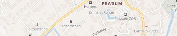 Karte Rathaus Pewsum Krummhörn
