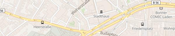 Karte Stadthausgarage Bonn