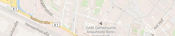 Karte Alte Bahnhofgarage Bonn