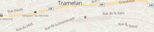 Karte Bahnhof Tramelan