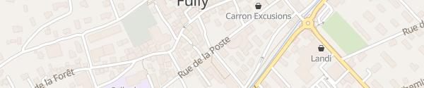 Karte Rue Maison de Commune Fully