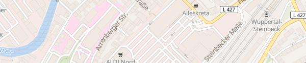 Karte Akzenta Steinbecker Meile Wuppertal